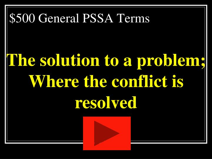 $500 General PSSA Terms