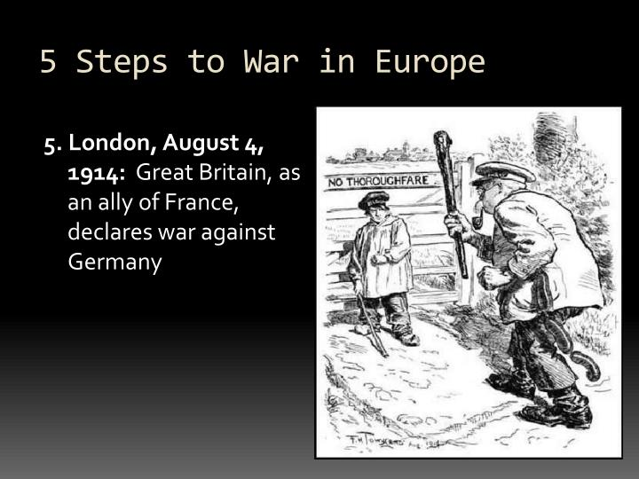 5 Steps to War in Europe