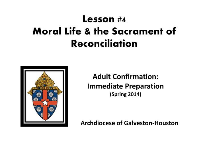 Preparing adults for confirmation