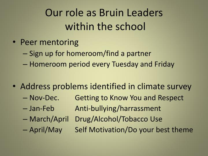 Our role as Bruin Leaders