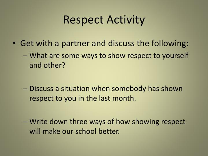 Respect Activity