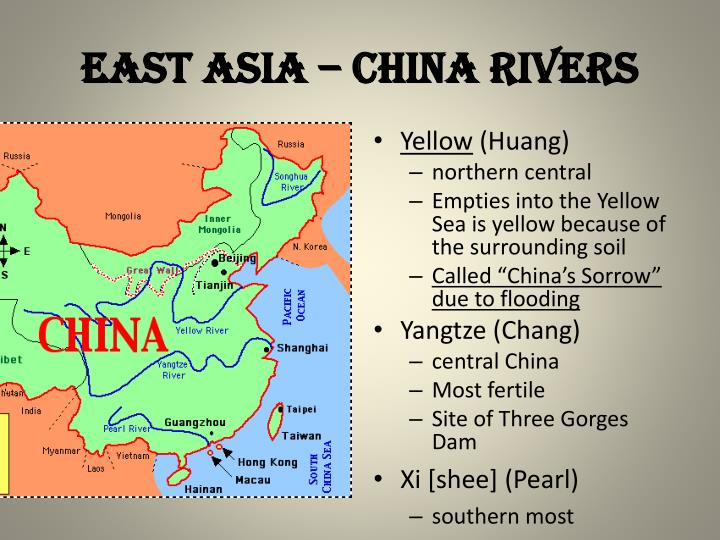 EAST ASIA – CHINA RIVERS