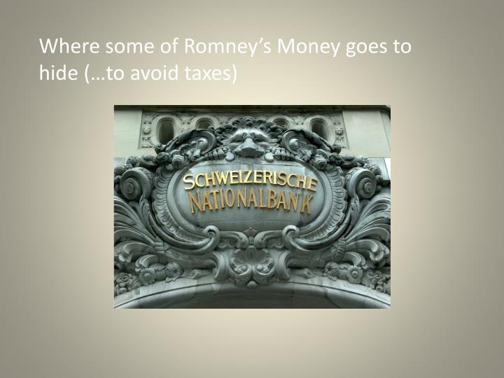 Where some of Romney's Money goes to hide (…to avoid taxes)