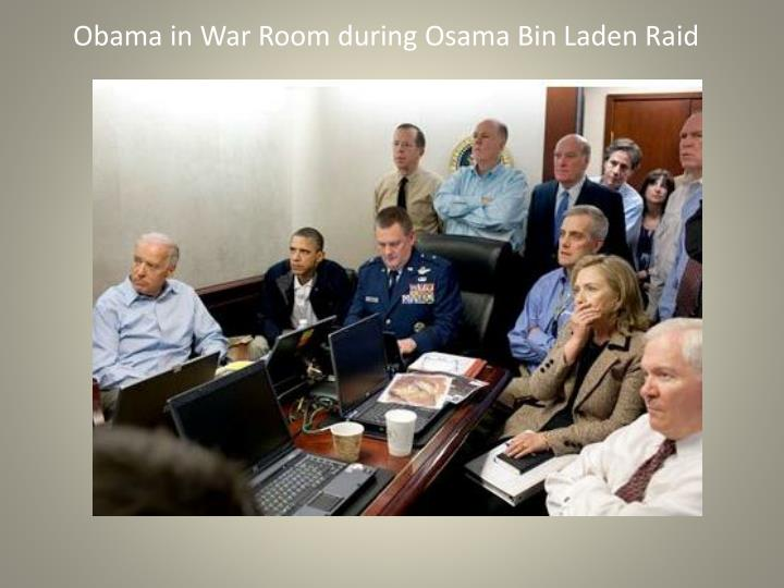 Obama in War Room during Osama Bin