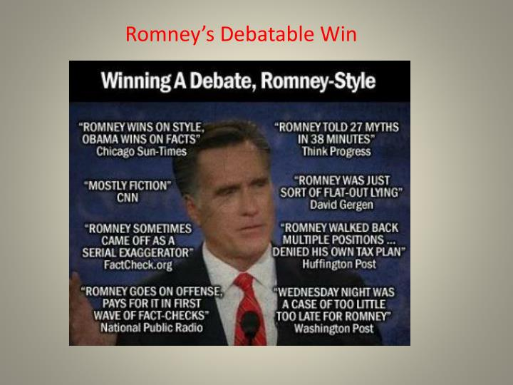 Romney's Debatable Win