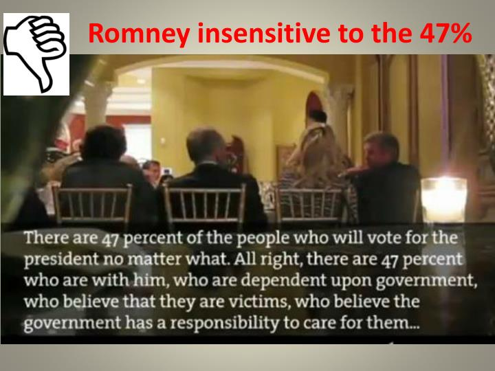 Romney insensitive to the 47%