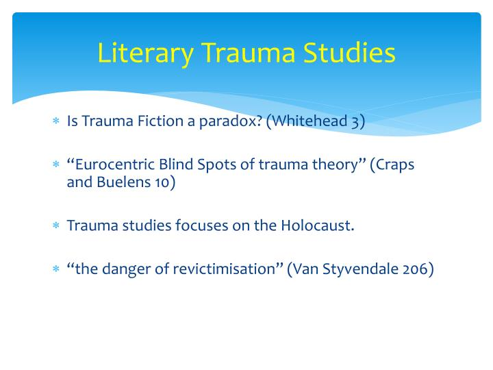 Literary trauma studies