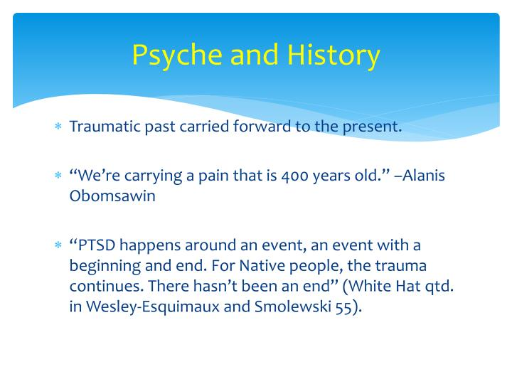 Psyche and History