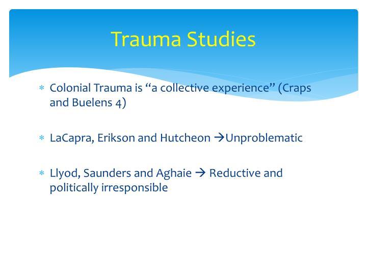 Trauma Studies