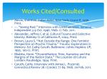 works cited consulted