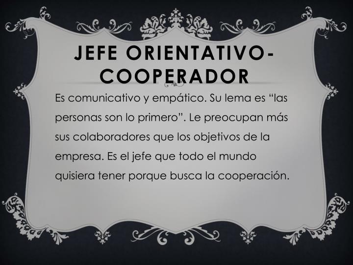 JEFE ORIENTATIVO-COOPERADOR