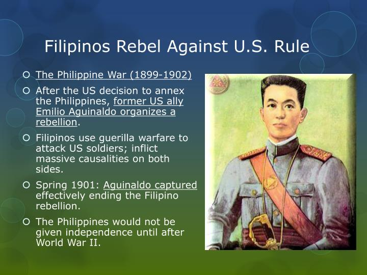 Filipinos Rebel Against U.S. Rule