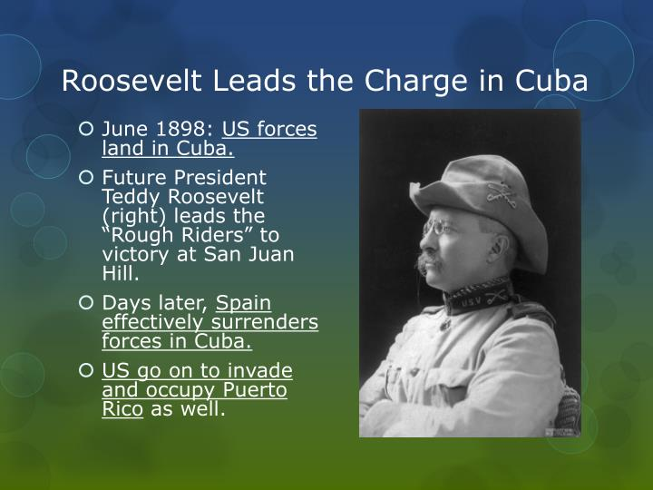 Roosevelt Leads the Charge in Cuba