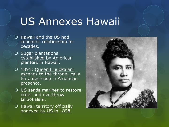 US Annexes Hawaii
