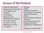 sections of the protocol