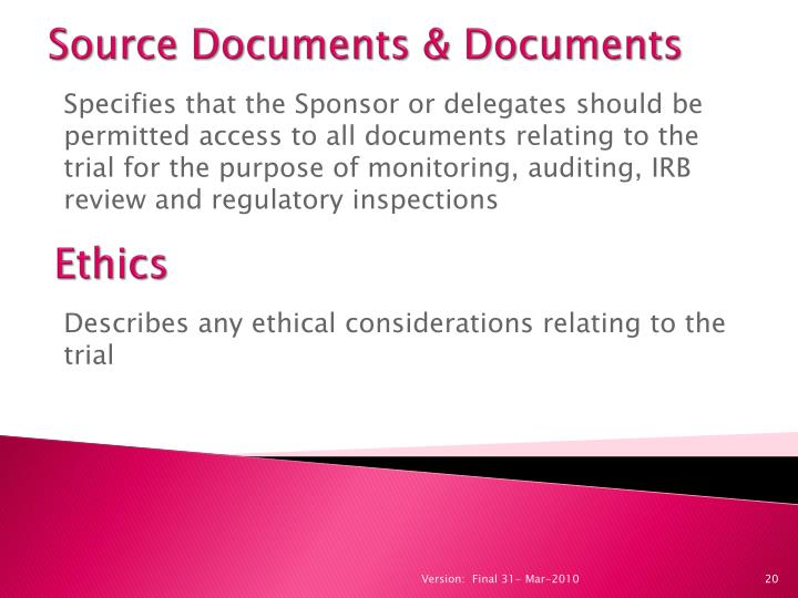Source Documents & Documents