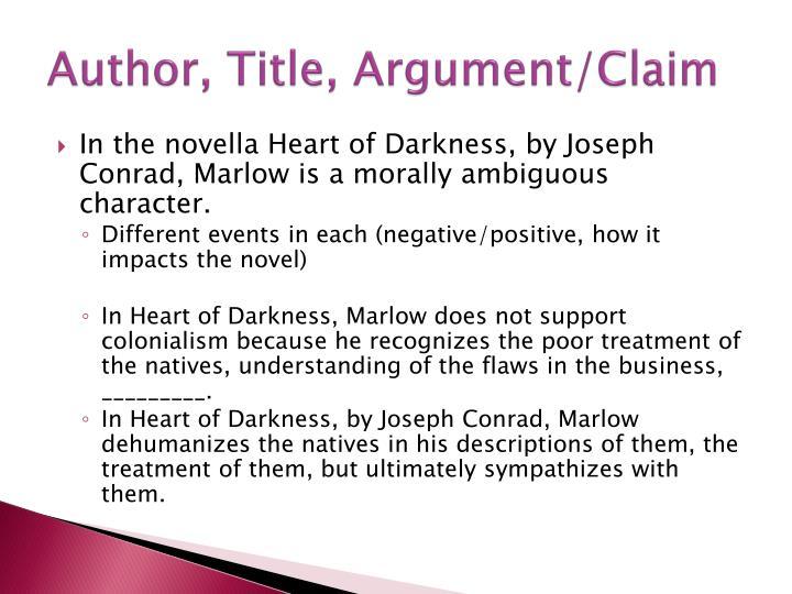Author, Title, Argument/Claim