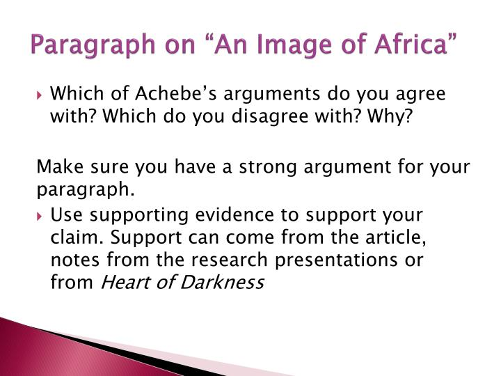 "Paragraph on ""An Image of Africa"""