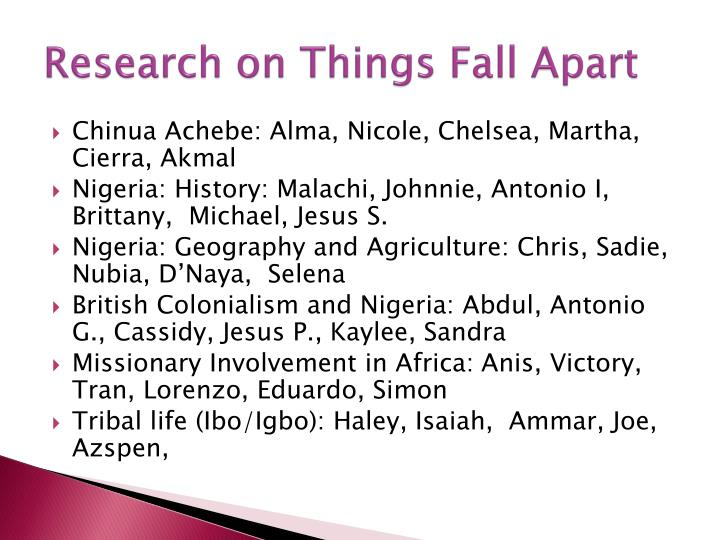 Research on Things Fall Apart