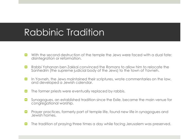 Rabbinic Tradition