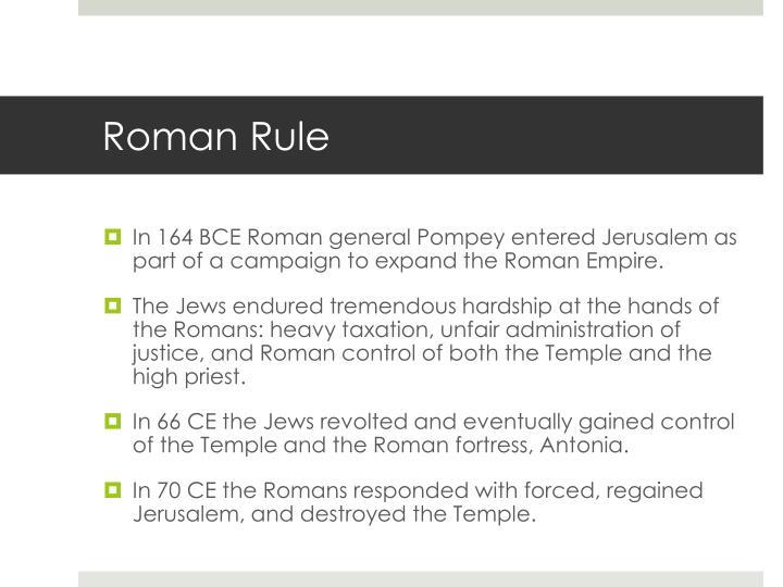 Roman Rule