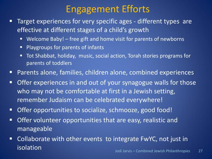 Engagement Efforts