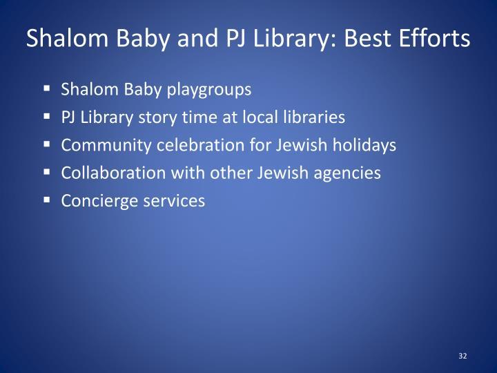 Shalom Baby and PJ