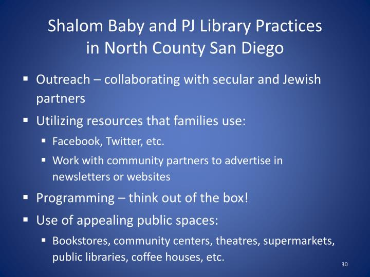 Shalom Baby and PJ Library