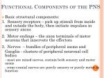 functional components of the pns