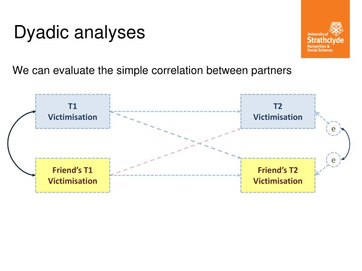 We can evaluate the simple correlation between partners