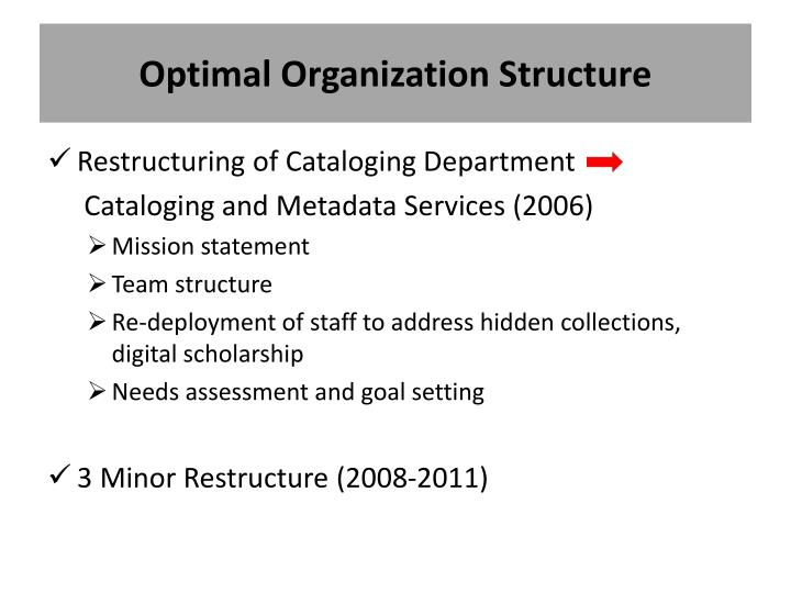 Optimal Organization Structure
