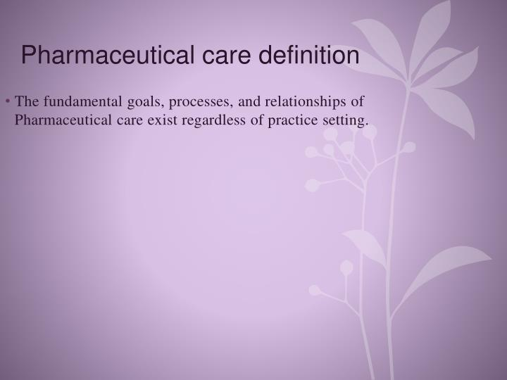 Pharmaceutical care definition