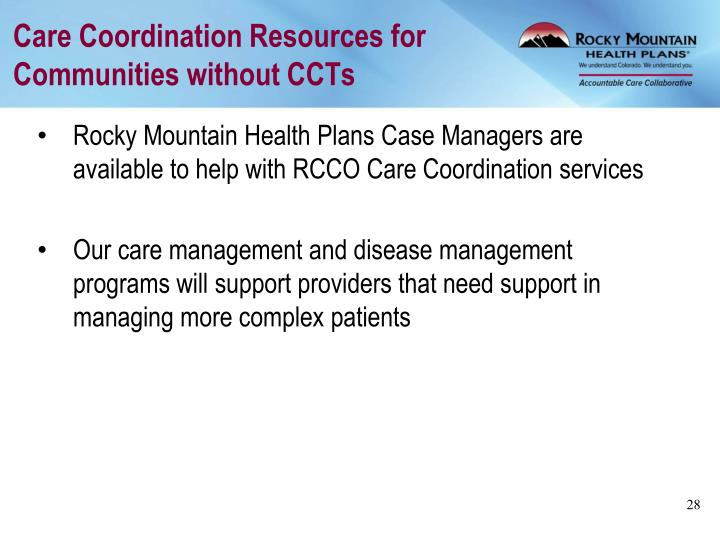 Care Coordination Resources for