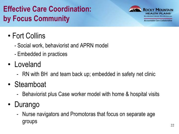 Effective Care Coordination: