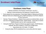 enrollment initial phase