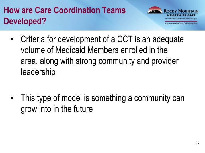 How are Care Coordination Teams