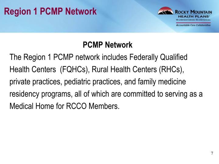 Region 1 PCMP Network
