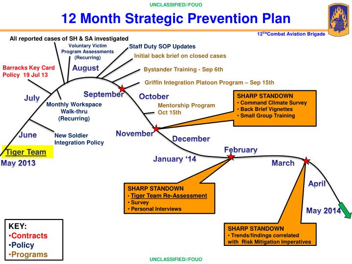12 Month Strategic Prevention Plan