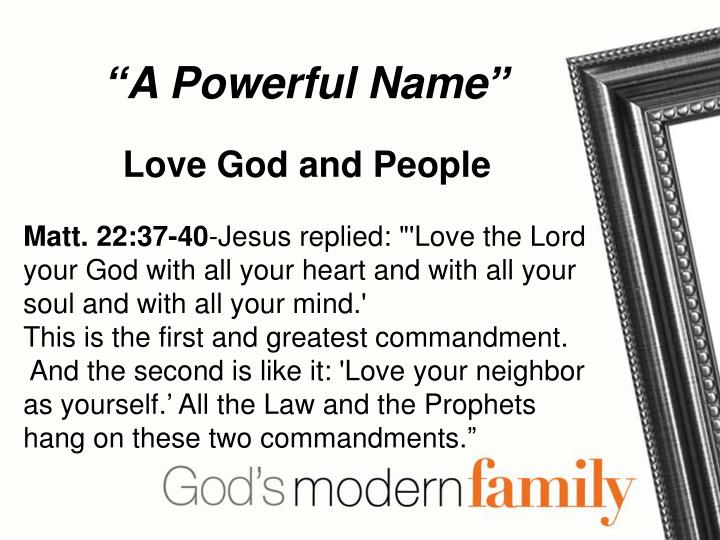 """""""A Powerful Name"""""""