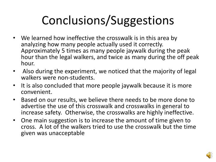 Conclusions/Suggestions