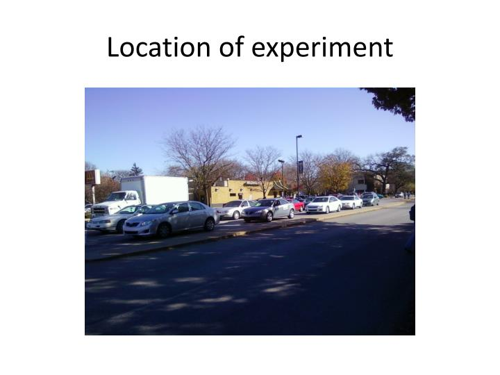 Location of experiment