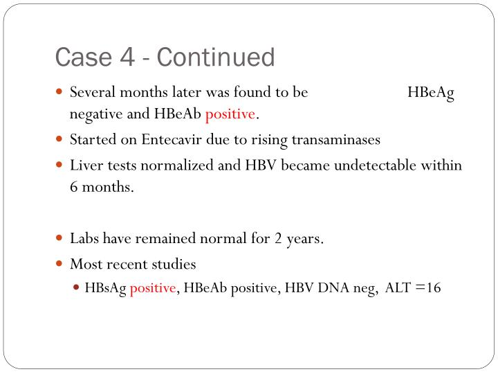 Case 4 - Continued
