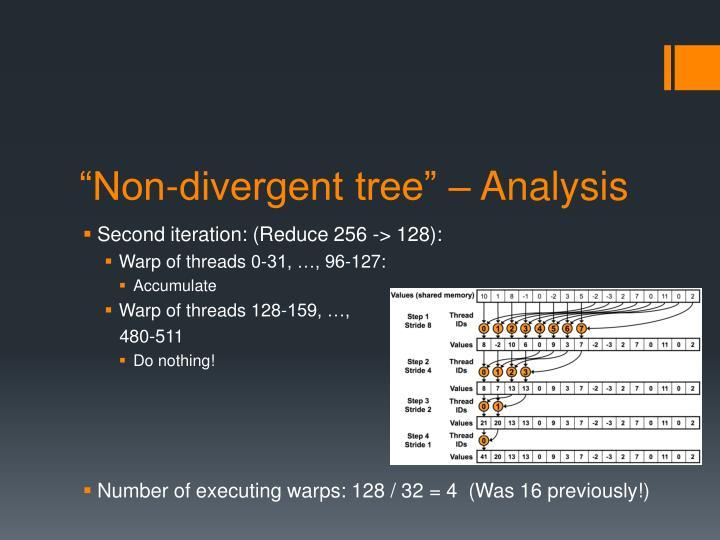"""Non-divergent tree"" – Analysis"