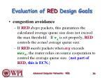 evaluation of red design g o als
