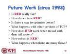future work circa 1993