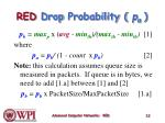 red d rop p robability p a
