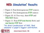red simulation results