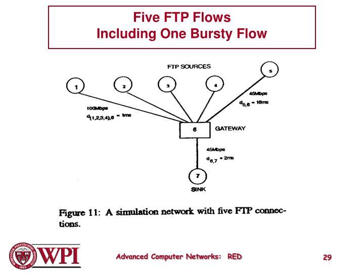 Five FTP Flows