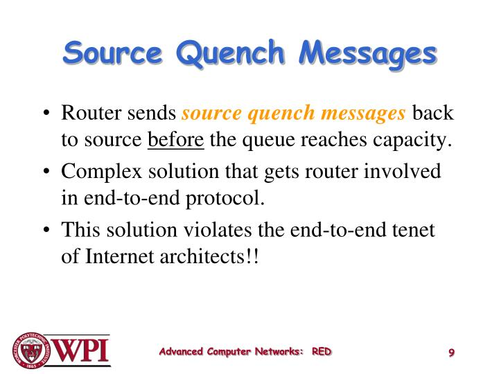 Source Quench Messages