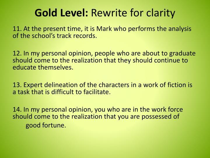 Gold Level: